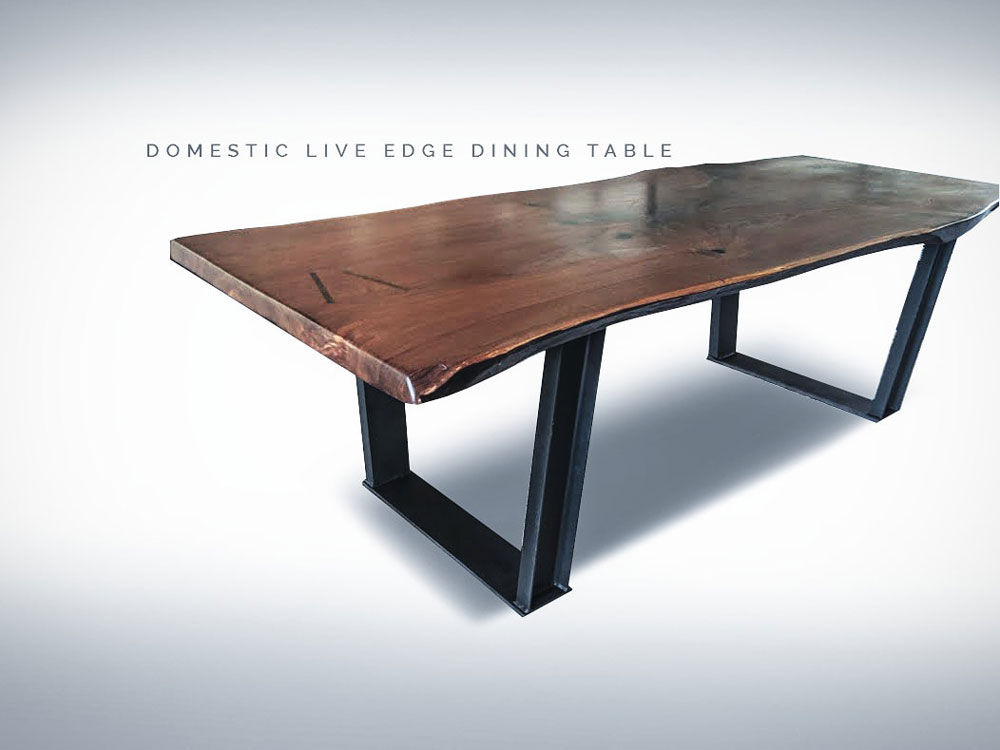 Domestic Live Edge Dining Table