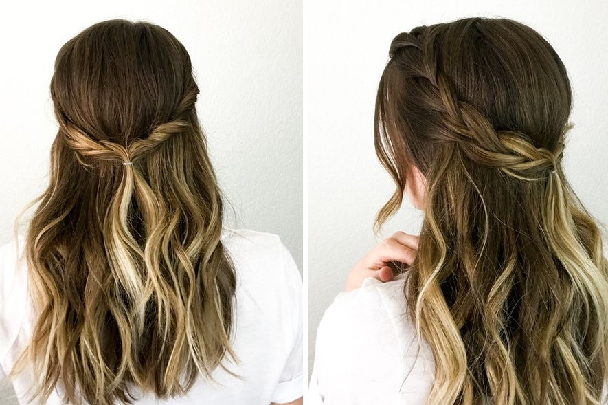 Easy Half-up Braid & Twist for quick mornings