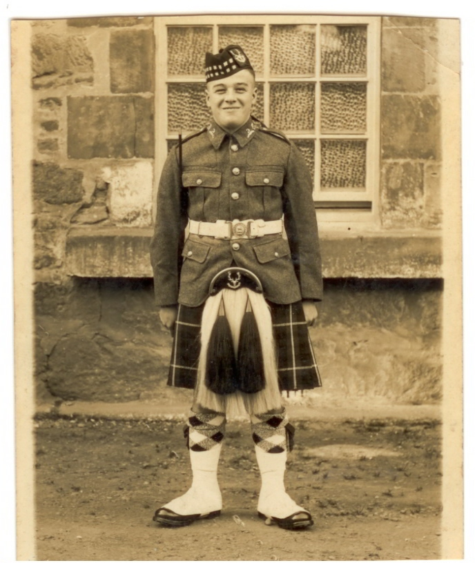 Uncle Bob in army kit