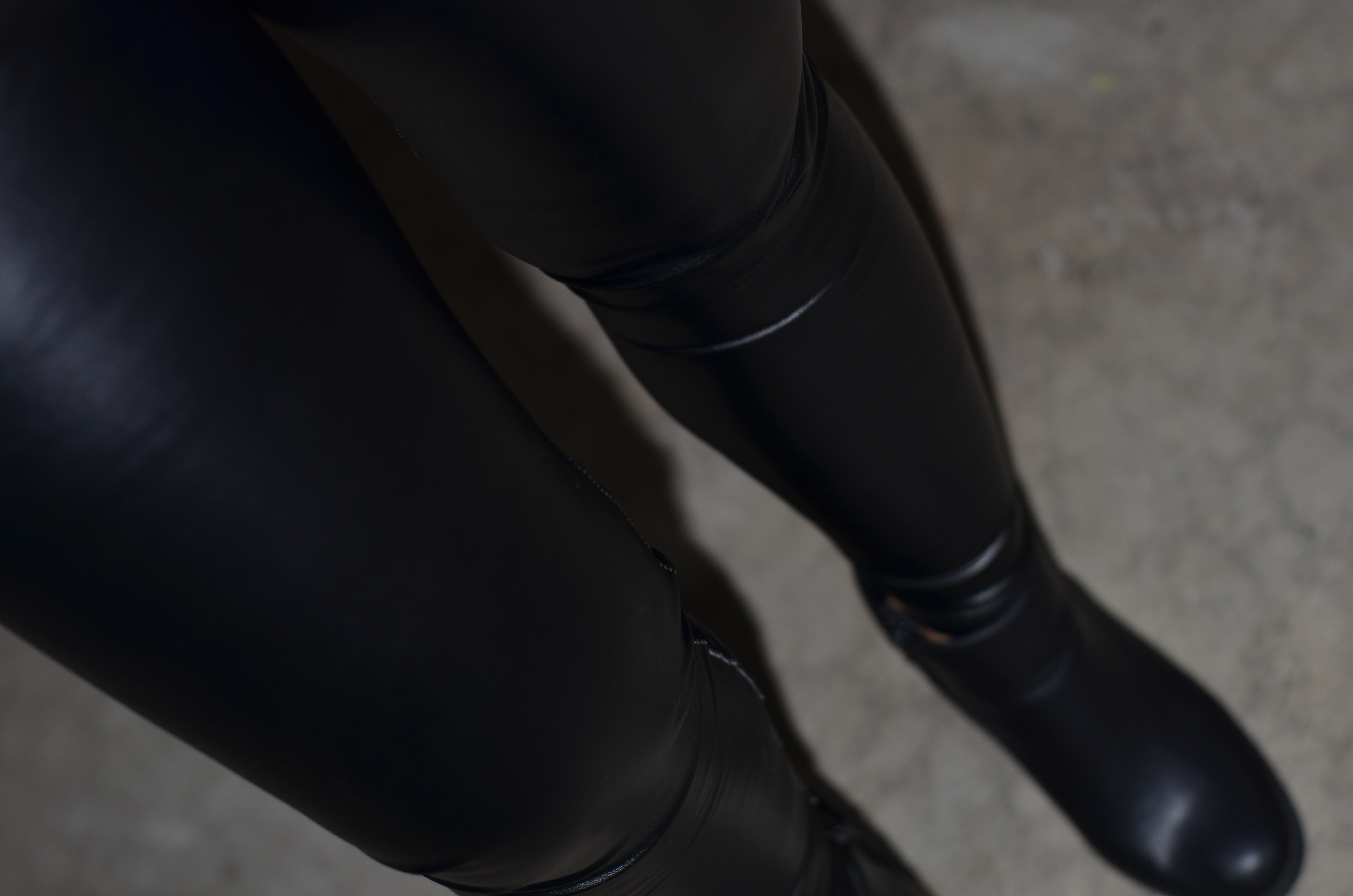 Black leather [faux] fall/ winter pants!