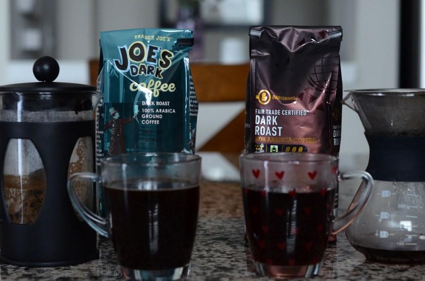Trader Joe's vs Aldi: dark roast coffee