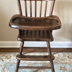High Chair On Chinese Chippendale Provence Blue Hazel Mae Home