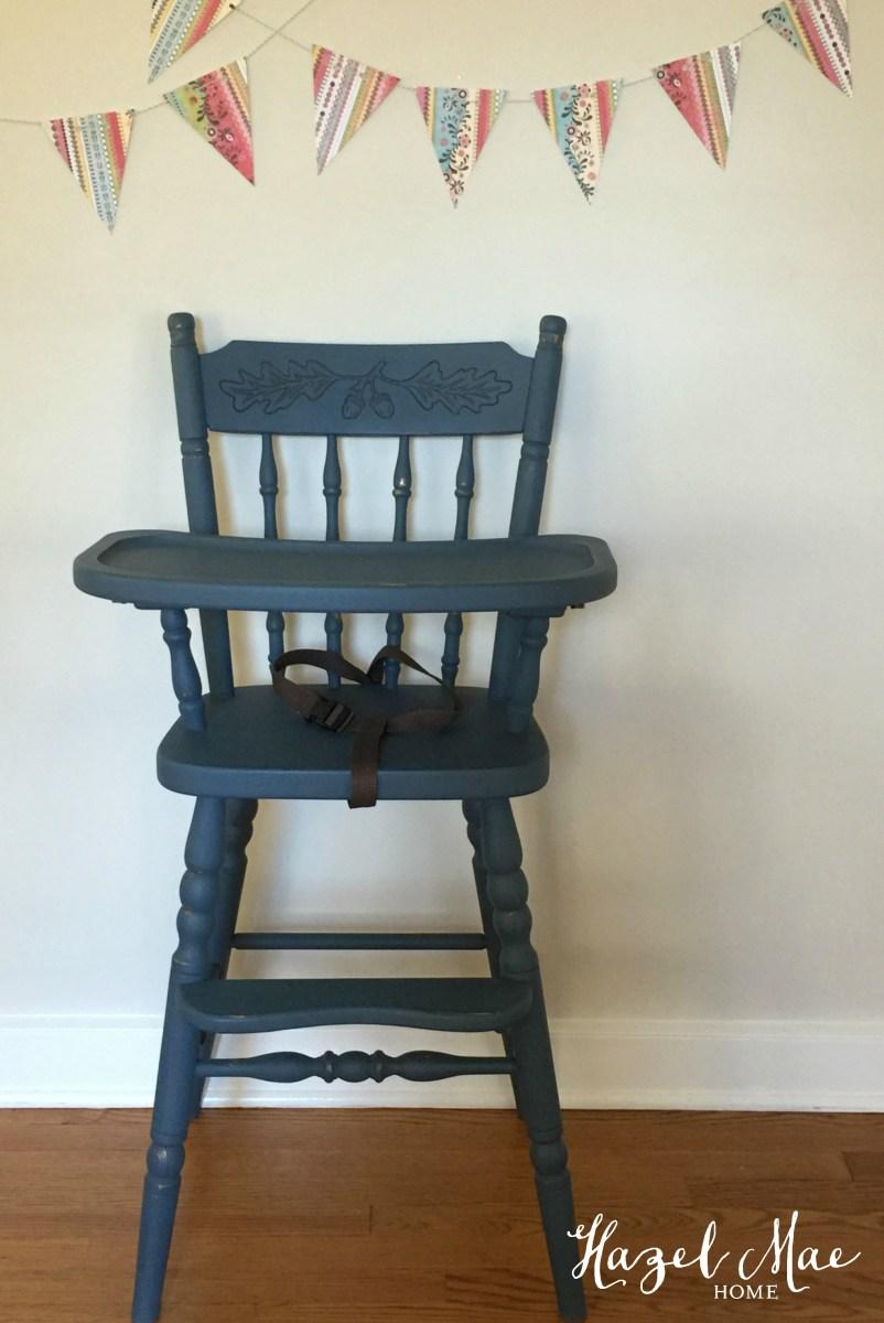 Vintage Painted High Chair Hazel Mae Home