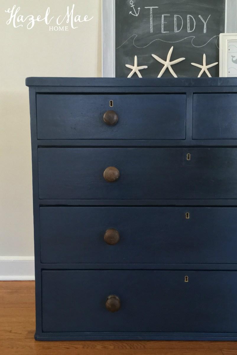 Nautical Blue Dresser for a Baby Boy  Hazel Mae Home