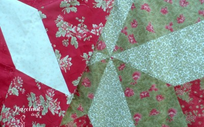 Tree skirt sewing (and disaster averted!)
