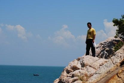En Saipul nak terjun laut...
