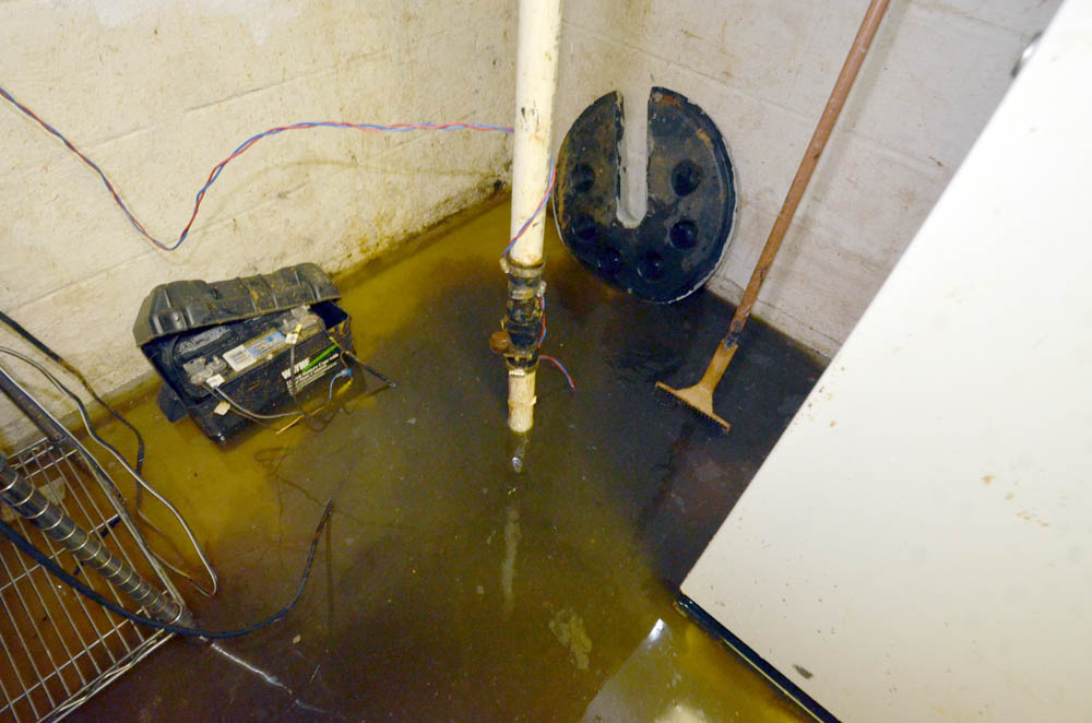 Flooded Basement Sump