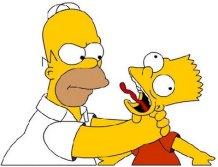 Homer enfadado