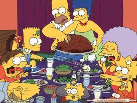 Familia Homer comiendo