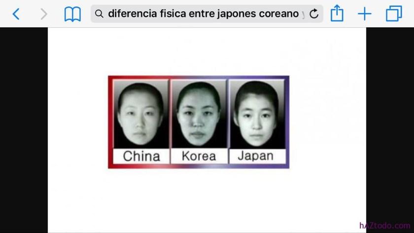 Cómo reconocer entre un Japonés, Chino y Coreano?
