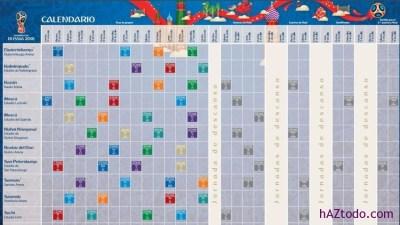 Calendarios y horarios del Mundial de Rusia 2018