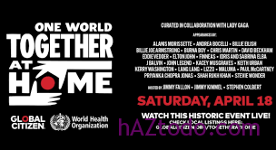 Como ver hoy online y por TV el festival One World, Together at Home