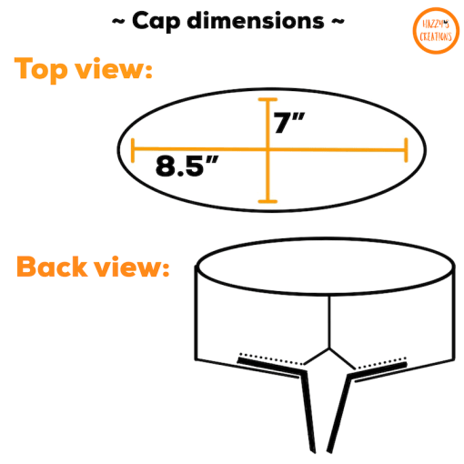 Top and back views of surgical cap