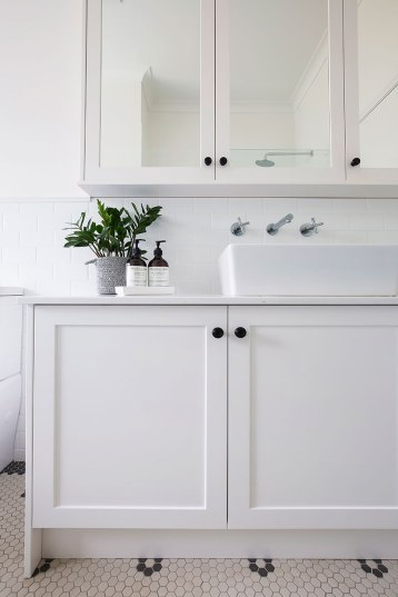 Black and White Bathroom Renovation | Helen Baumann Design