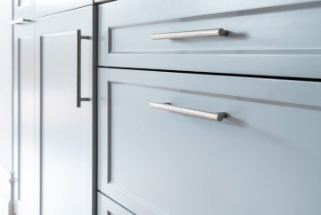 Subtle Cool Grey Cabinetry | Helen Baumann Design