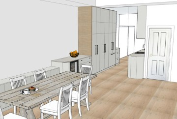 Contemporary Kitchen Renovation 3D | Helen Baumann Design