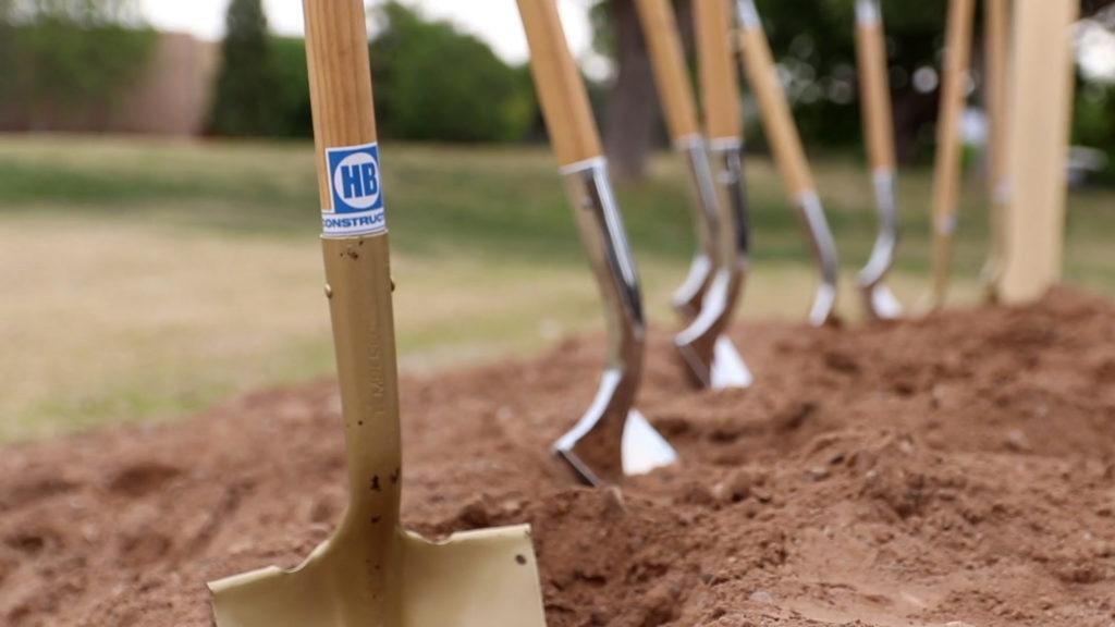 NMSU Residence Hall Groundbreaking shovels