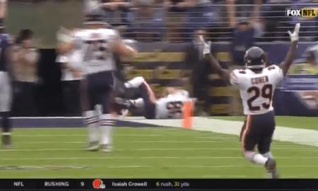 Tarik Cohen touchdown pass