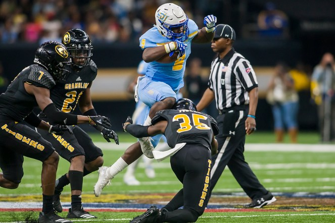 NEW ORLEANS, LA - NOVEMBER 24: during the 45th annual State Farm Bayou Classic game between the Southern Jaguars and the Grambling State Tigers on Saturday November 24, 2018 at the Mercedes-Benz Super Dome in New Orleans, Louisiana. (Photo by Nick Tre. Smith/Icon Sportswire)