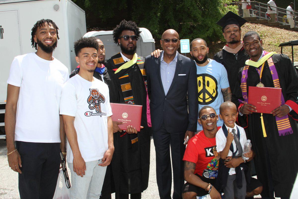 Darrell Walker returns to Clark Atlanta graduation
