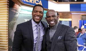 Deion Sanders and Michael Strahan