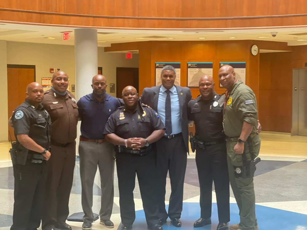 Student Affairs, Sports Information, and representatives from local Law Enforcement made up of former JSU Players