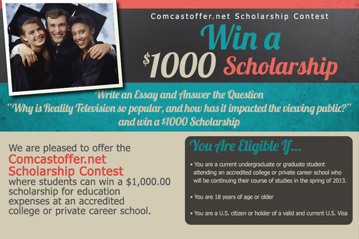 Win a 1 000 scholarship from comcastoffer net