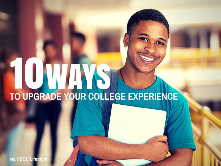 Black male HBCU student holding college books on campus having a great college experience.