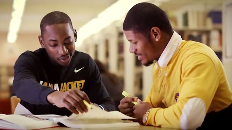 Two students appear in the 2017 WVSU television commercial.