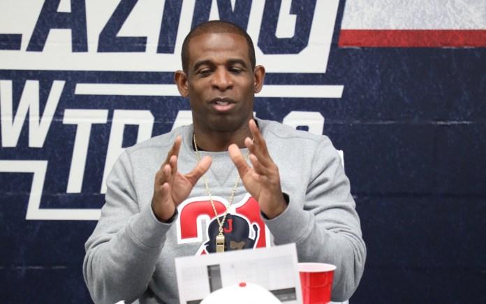 Jackson State head football coach Deion Sanders