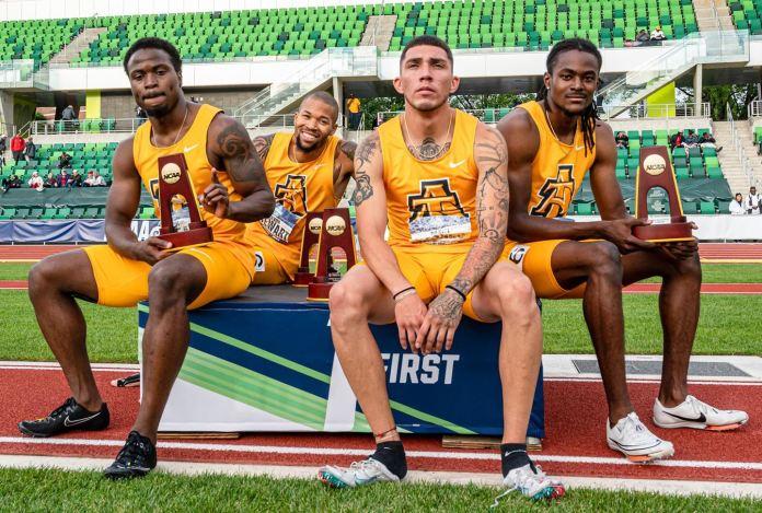 NC A&T 4x400 relay team