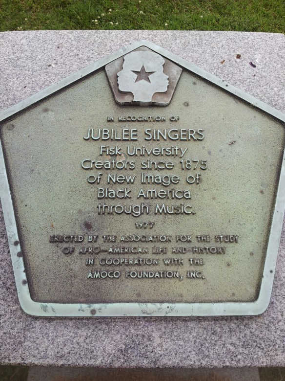 Jubilee Singers Plaque