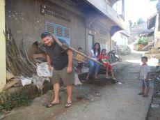 Pulling the buffalo cart (North Sumatra, 2014)