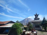View of Mt Sinabung from Karo village (North Sumatra, 2014)