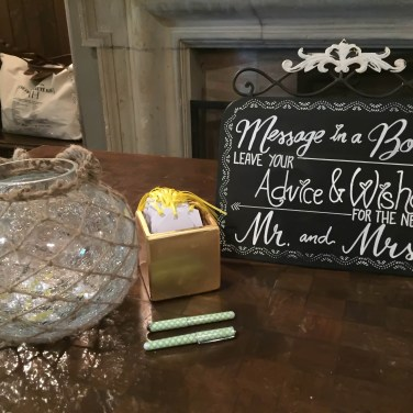 Handwritten wish box at Toronto wedding
