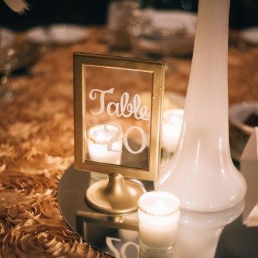 Beautiful Handwritten Wedding Table Number Ideas