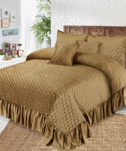 Malai Velvet Bridal Bed Spread 5 Pcs 3