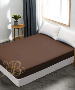 Terry Waterproof Mattress Cover Brown