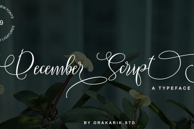Introducing December Script is a stylish Signature font with contemporary and sophisticated accents. It is perfect for logo/branding projects, large header text and product packaging. December Script Features : - Ligatures - Alternates - Swashes - Multilanguange Files Includes : - December Script.otf