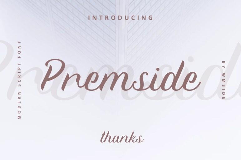 Premside modern script font