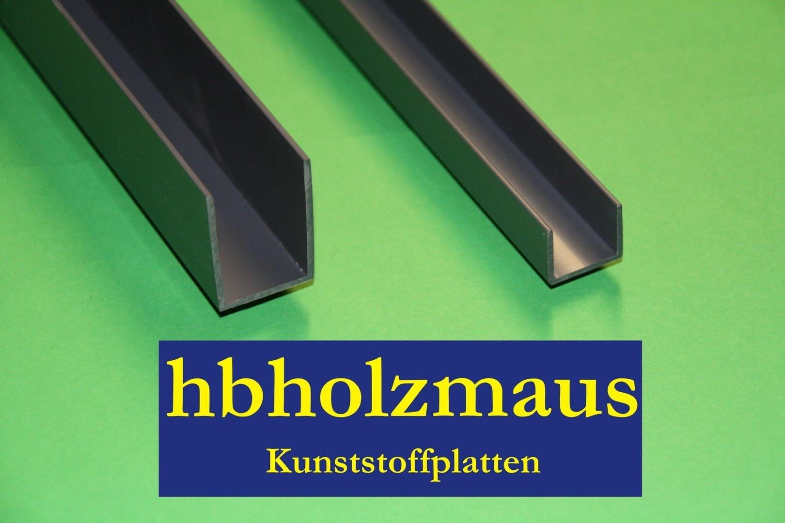 U Profil Kunststoff U Profil Kunststoff Wei 20x21x1mm 1m