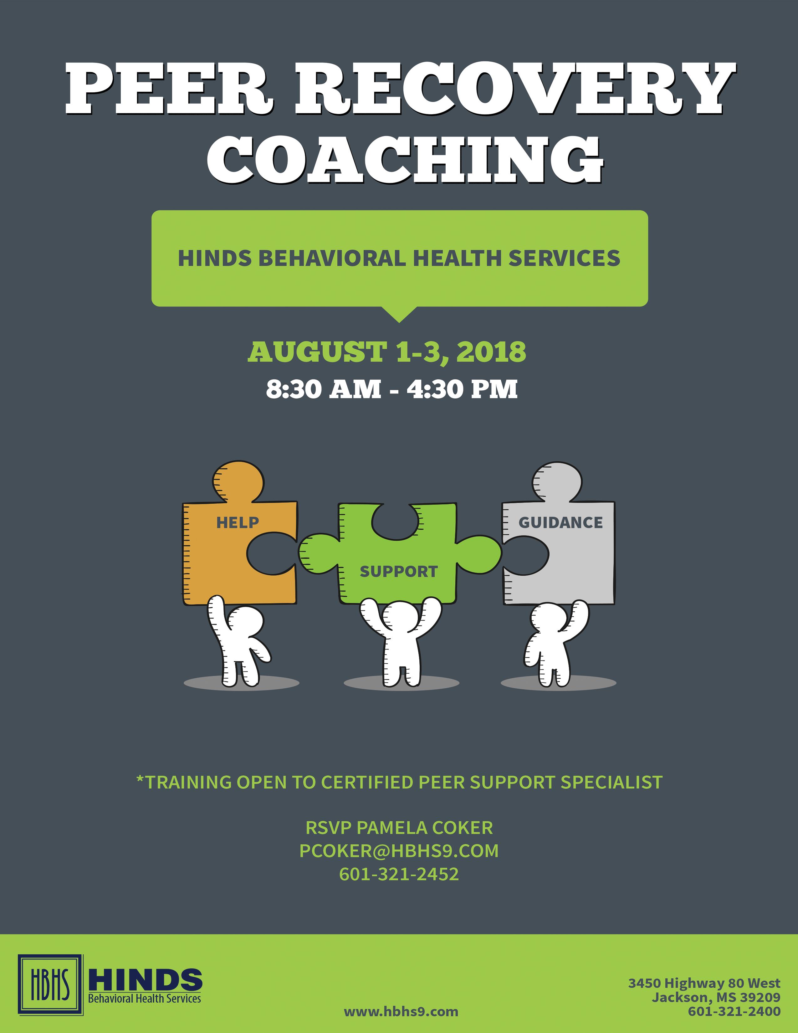 Peer Recovery Coaching