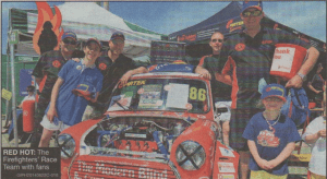 RED HOT: The Firefighters' Race Team with fans