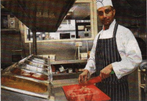 Masala Bay owner Alamin Ahmed at work