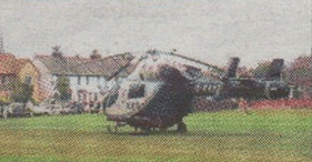 Air ambulance lands at Herne Bay Memorial Park