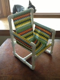PVC pipe chair finished!   Another Day in the Life......