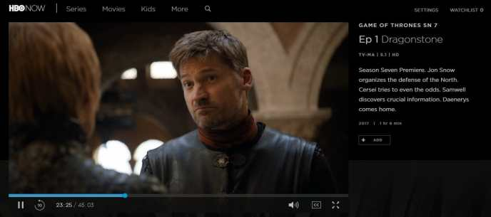 Game of Thrones season 7 HBO Now