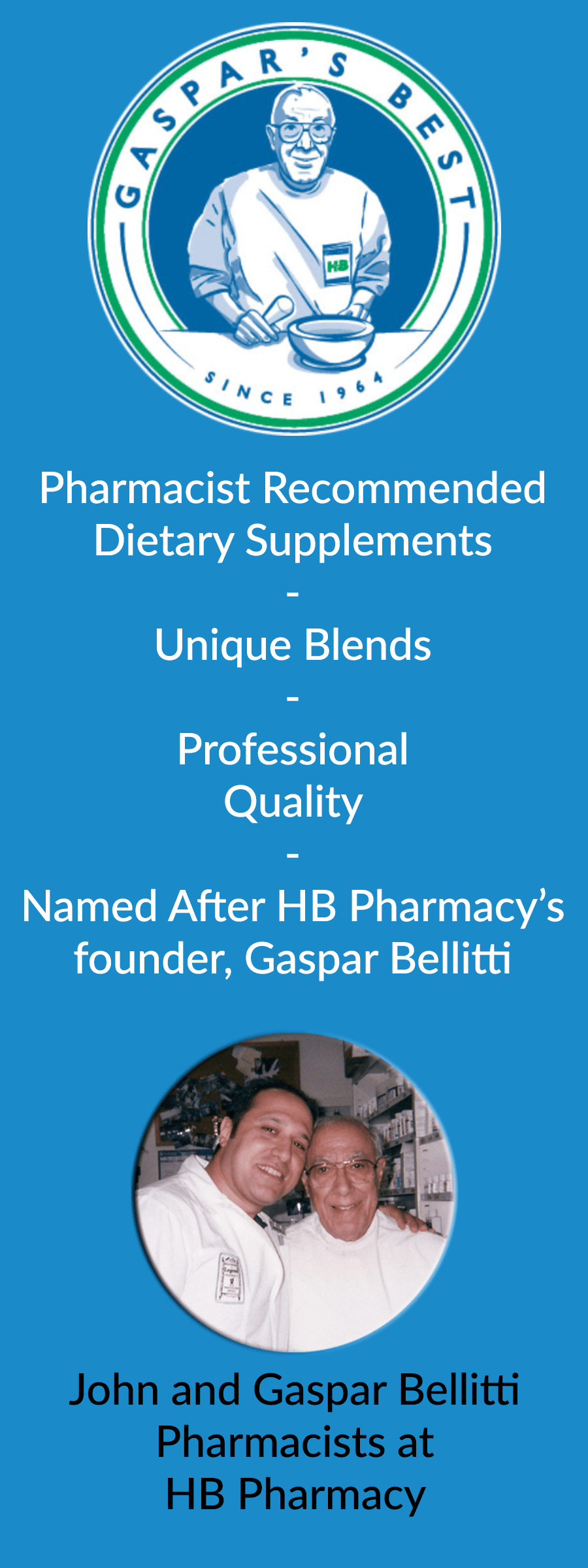 Gaspar's Best Supplements - Unique Blends | Professional Quality | A Family You Can Trust