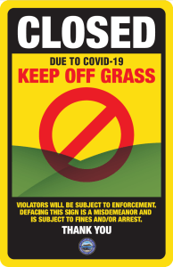 Stay Off Grass Sign Image