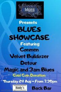 blues showcase poster